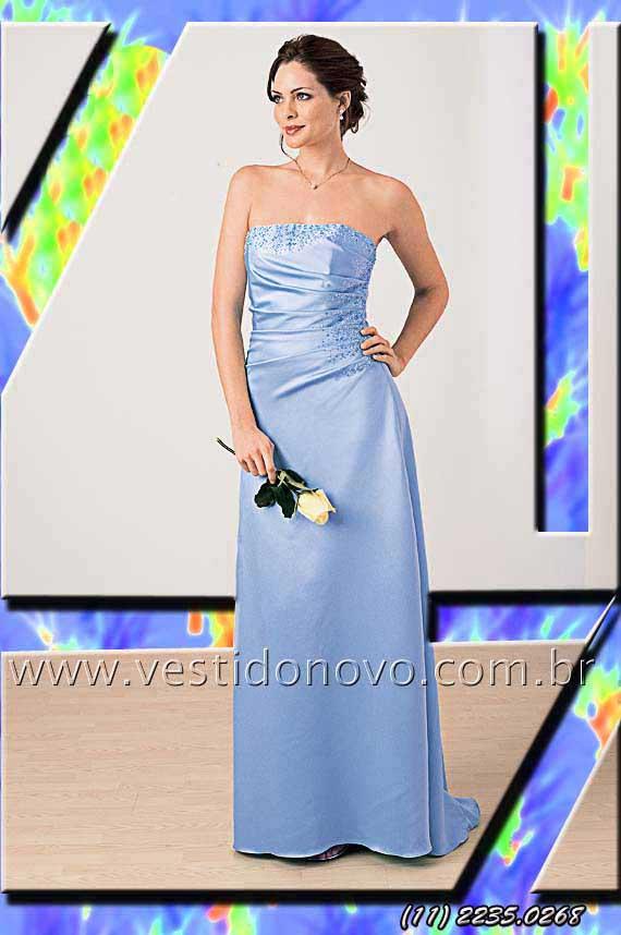93ddc7f69ccf7 vestido azul serenity, azul pastel, madrinha de casamento em cetim importado  agende sua visita