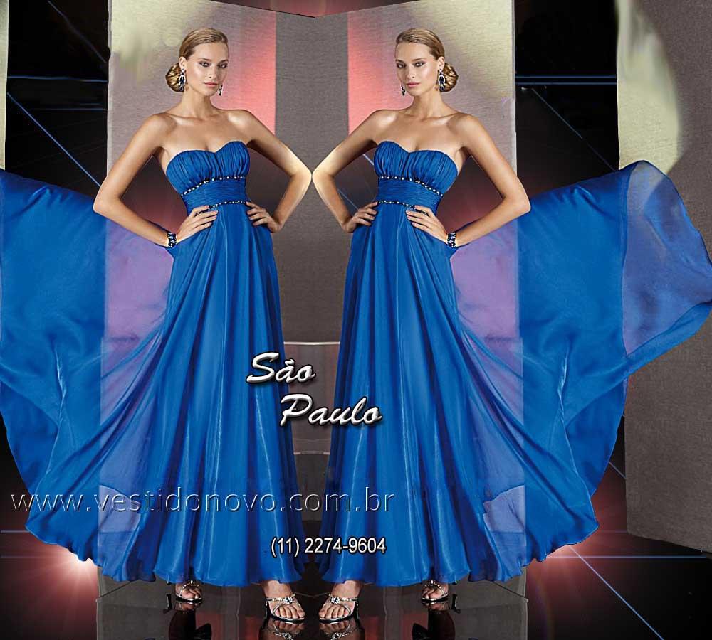 858d2e714 Vestido de formatura, madrinha de casamento Plus size para Gordinhas pronta  entrega azul royal,