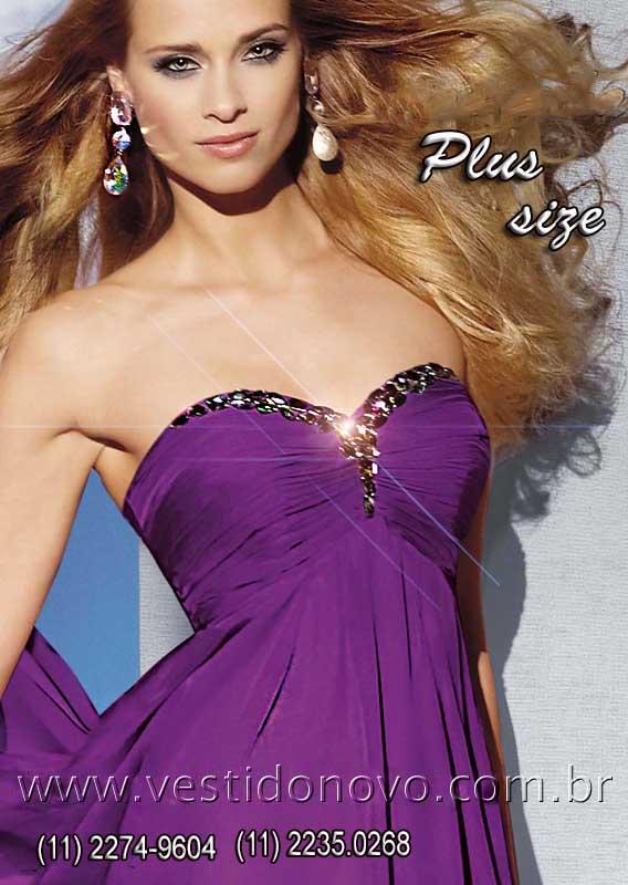 c31e57f40 Vestidos Plus size para Gordinhas pronta entrega cor violeta , Este modelo  em estoque é PLUS
