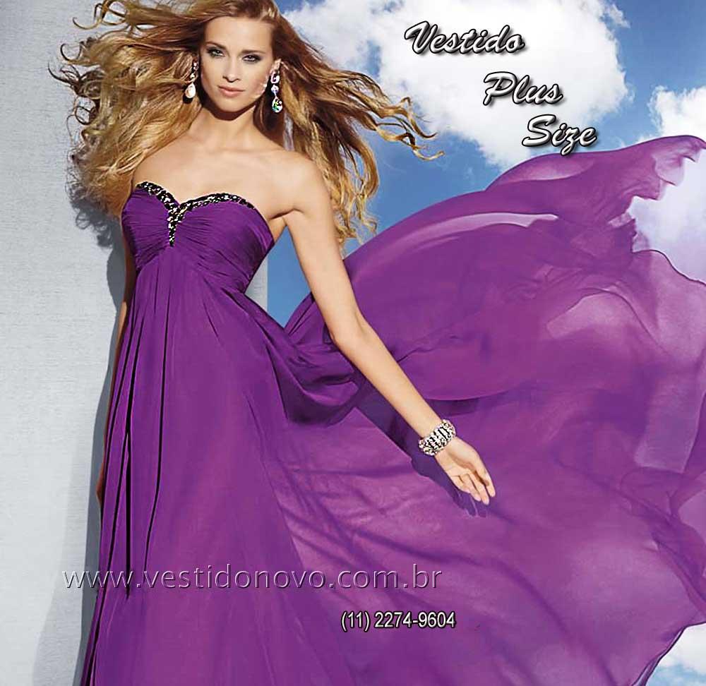 a81ea1933 Vestidos Plus size para Gordinhas pronta entrega cor violeta , vestido  tamanho grande loja em São