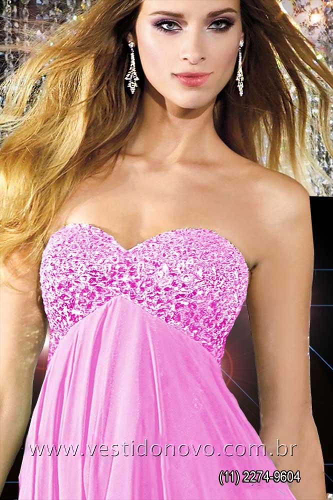 bc90abe0e Vestidos Plus size rosa claro pedraria e brilho no busto, formatura,  madrinha, casamento