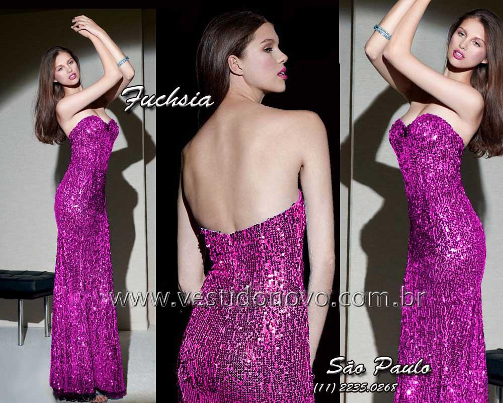 a51e920b9 vestido de festa longo todo em pedraria e brilho na cor pink fuchsia zona  sul em