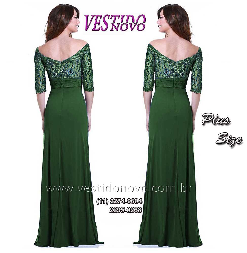 Vestido de madrinha verde tiffany plus size