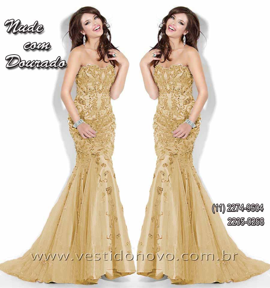 72879be79 vestido plus size sereia ouro, dourado mãe do noivo, formatura, tamanho  grande com