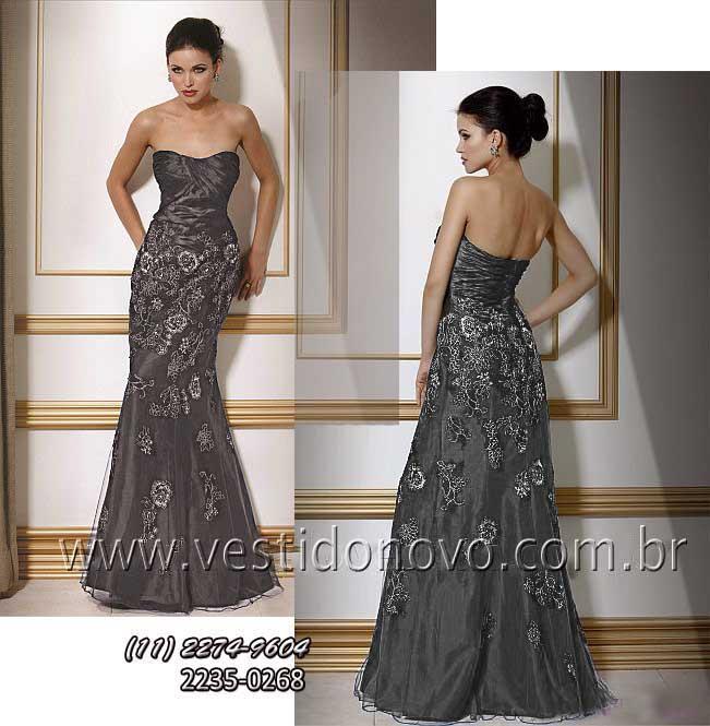 f2569af488b7 Vestido mae do noivo, bodas de prata na cor cinza chumbo, loja zona sul