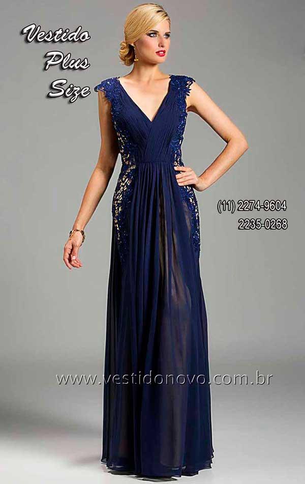Vestido de gala azul royal